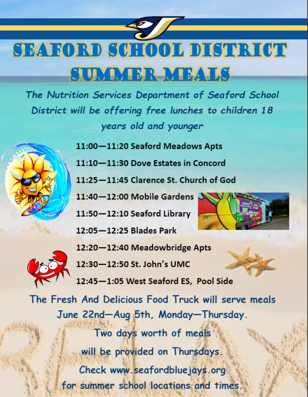 Seaford School District Summer Meals Featured Photo