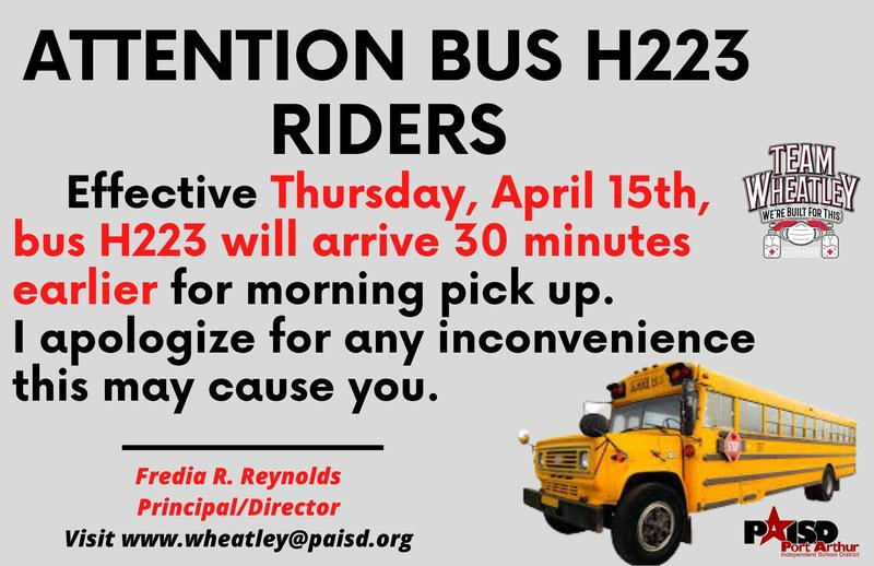 Changes to BUS ROUTE 223 Featured Photo