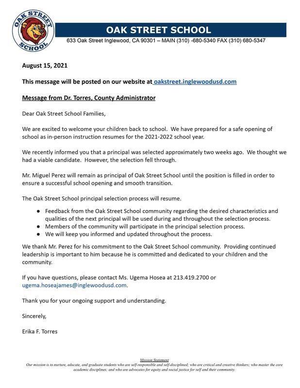 8-15-2021 - School Messenger