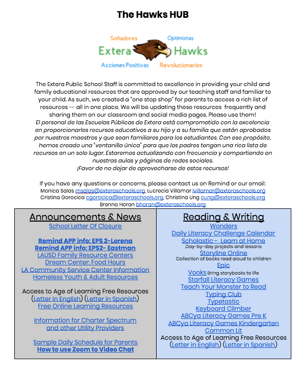 Parent Hawks HUB: All Your Resources Featured Photo