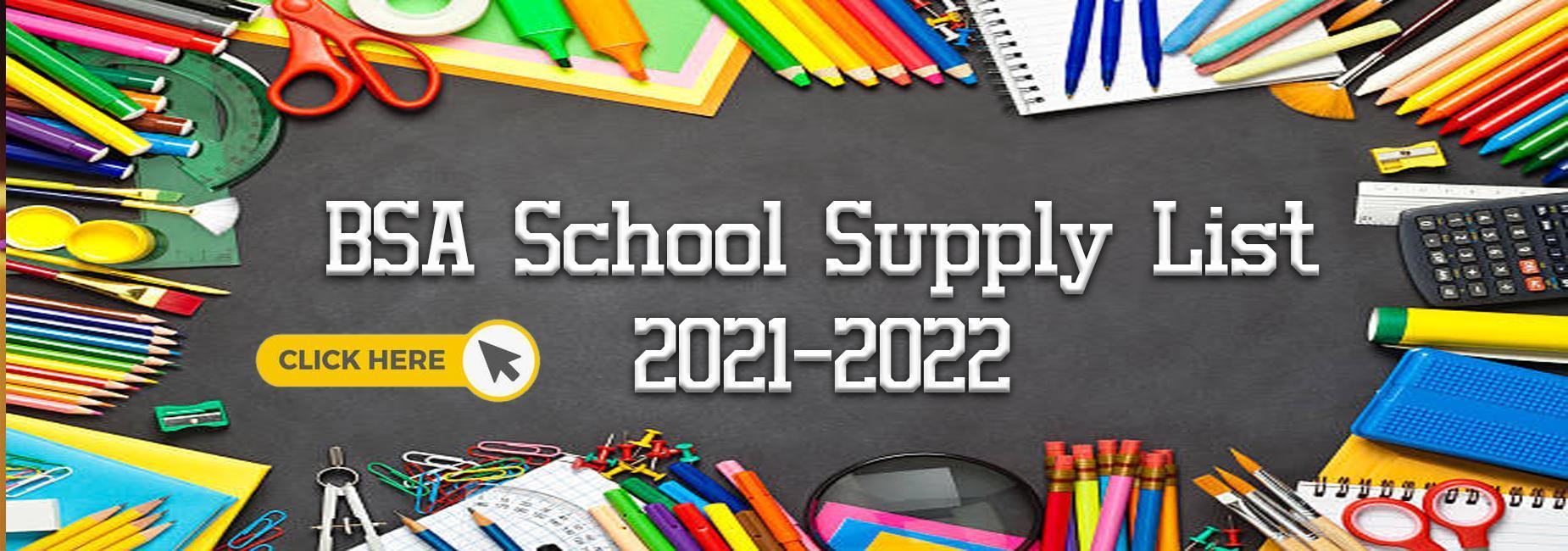 2021-2022 School Supply List Click Here
