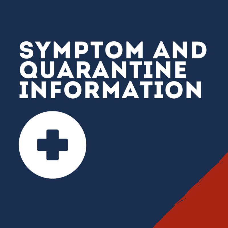 Quarantine Info graphic