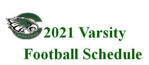 2021 Varsity Football Schedule