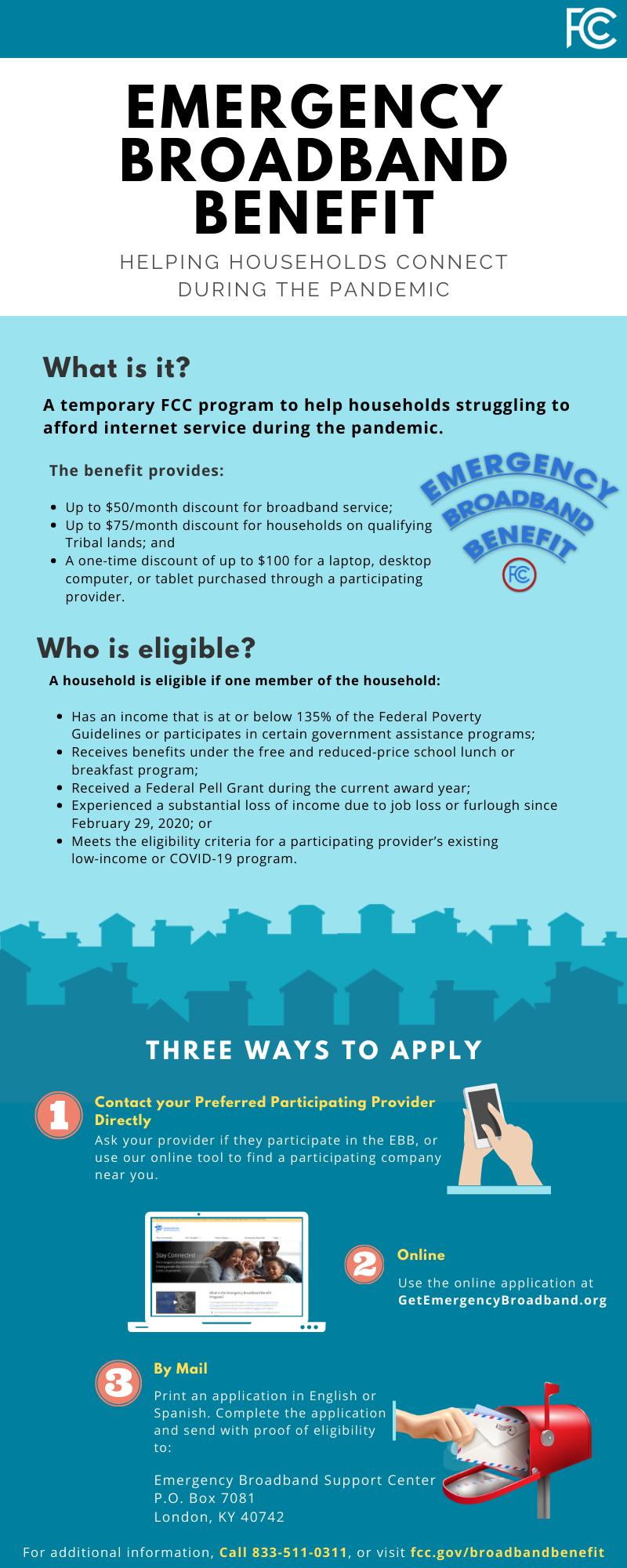 Federal Emergency Broadband Benefits Featured Photo