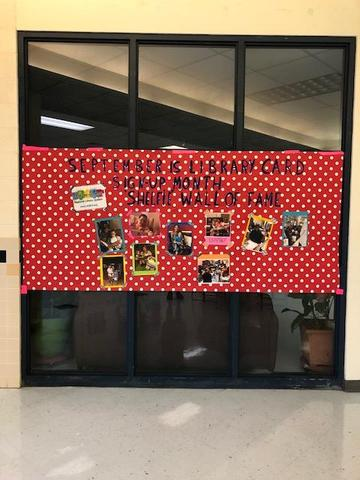 Library Card Month display