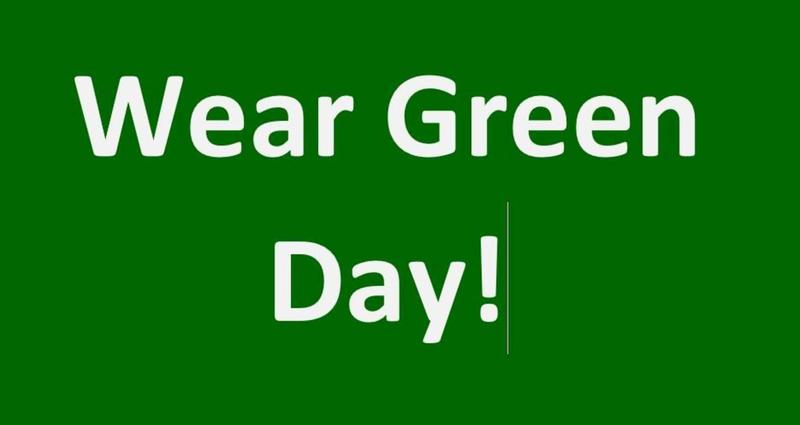 Start With Hello!  Friday 9/28/18 Wear GREEN and show school spirit! Featured Photo