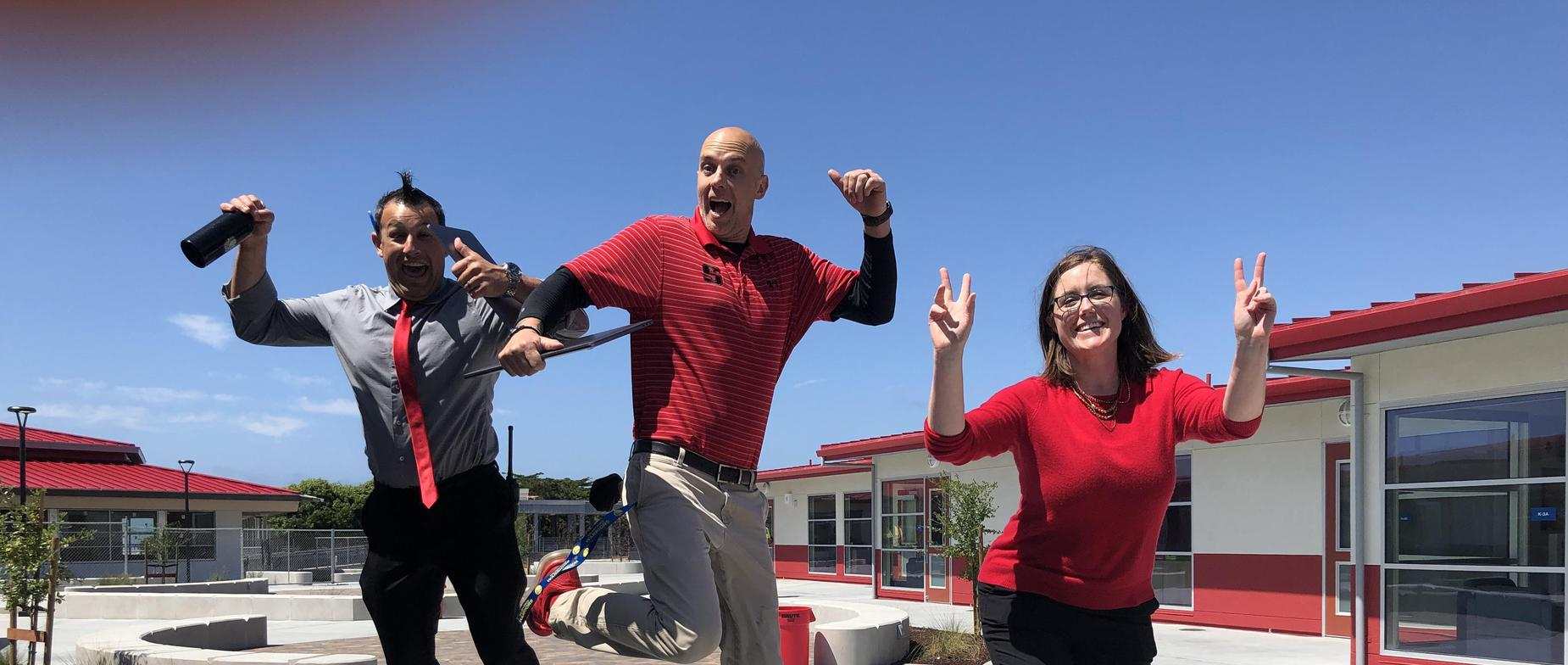 The Seaside High School administration team excited to start the school year.