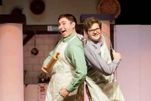 photo of the pastry chefs in The Drowsy Chaperone at OLSH