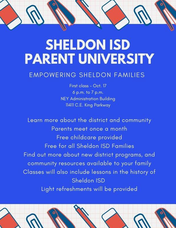 Sheldon ISD Parent University Featured Photo