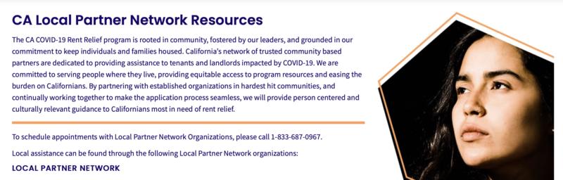 California COVID-19 Programa Estatal de Alivio de Rentas Featured Photo