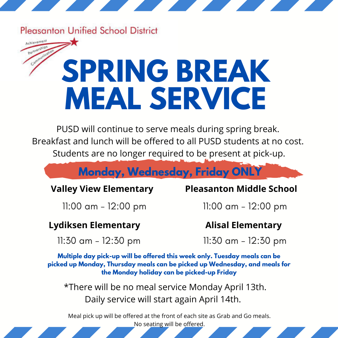 Spring Break Meal Service