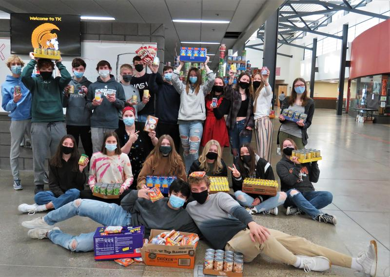 TKHS students collected food items to donate to Barry County United  Way.