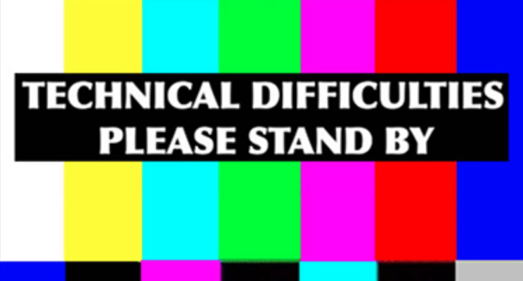 Clip art of technical difficulties