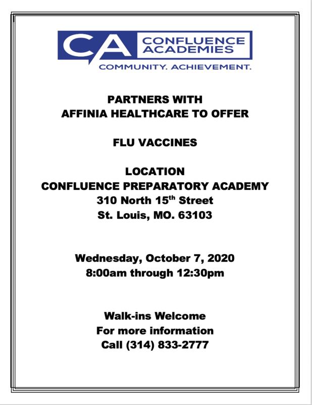 flu testing confluence academies