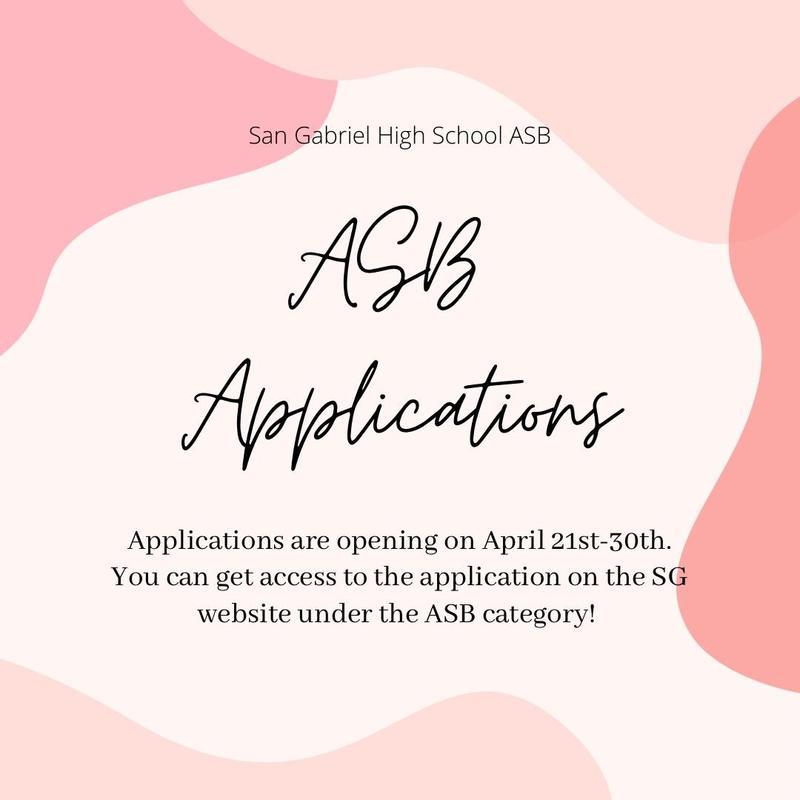 ASB Applications Flyer