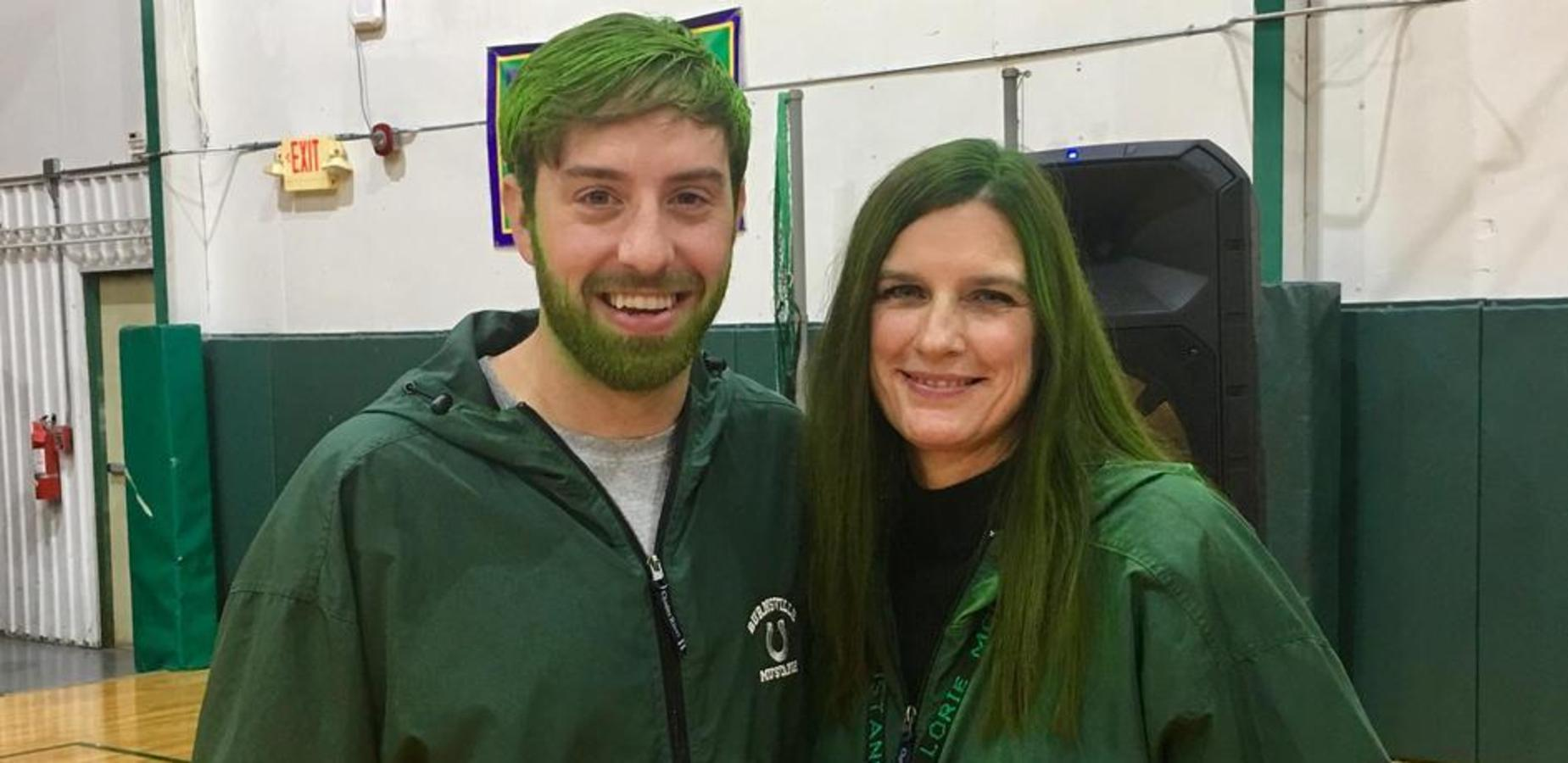 Principals Color Hair Green for State Test Results