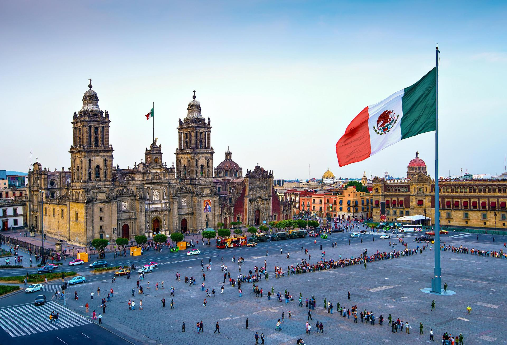 El Zócalo en la Cuidad de México