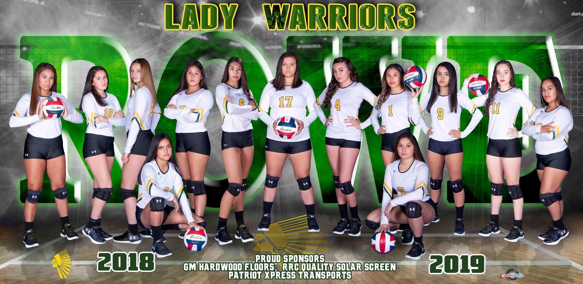 2018-2019 Lady Warrior Varsity Team