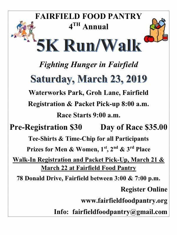 Fairfield Food Pantry 5K Run/Walk March 23 - Still Time to Register! Featured Photo