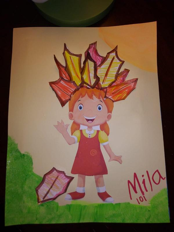 Mila's leaf project