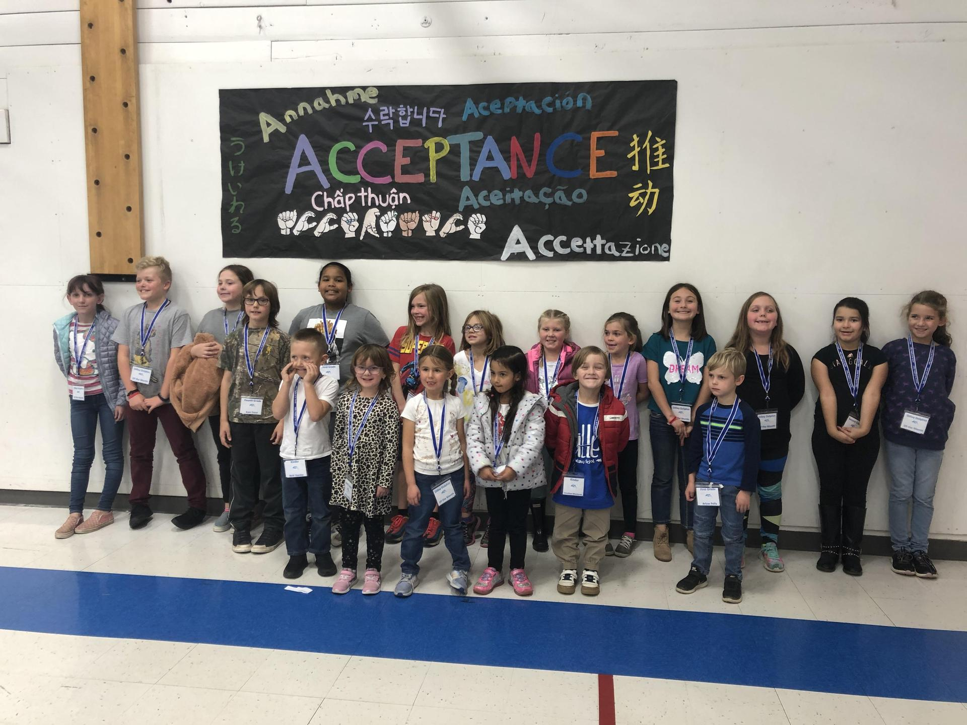 Picture of Dilley Dolphin's of the month for Acceptance.