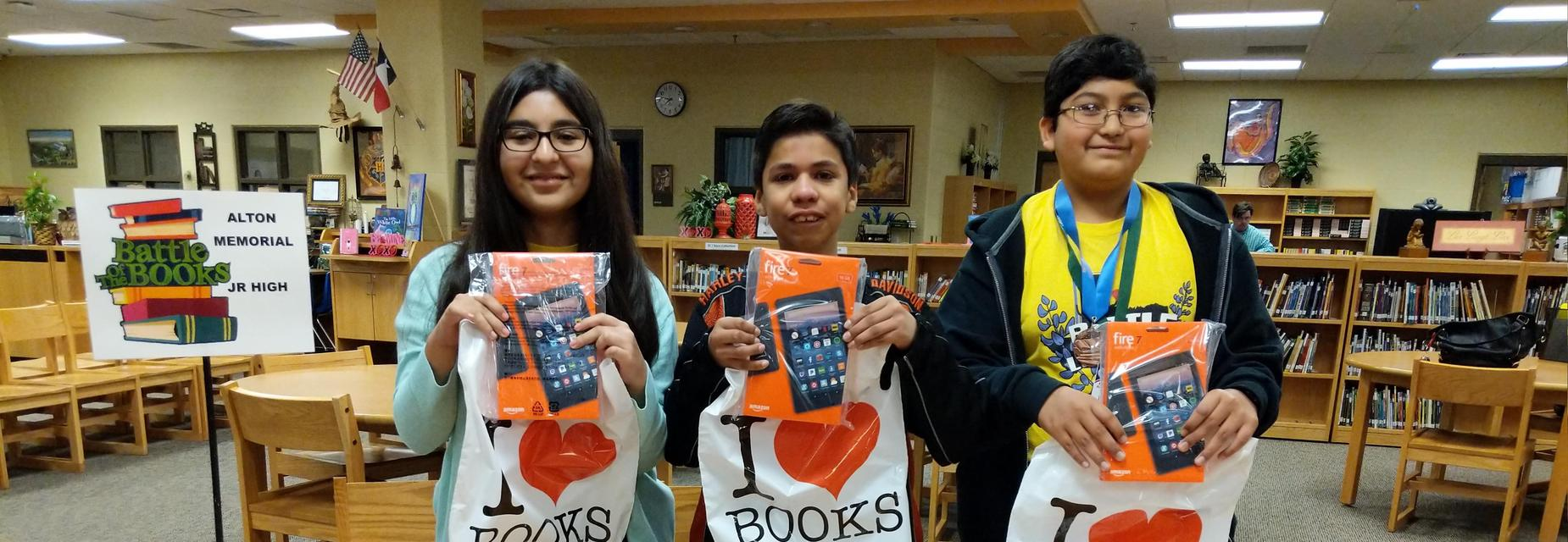 AMJH students were the Battle of the Books winners.