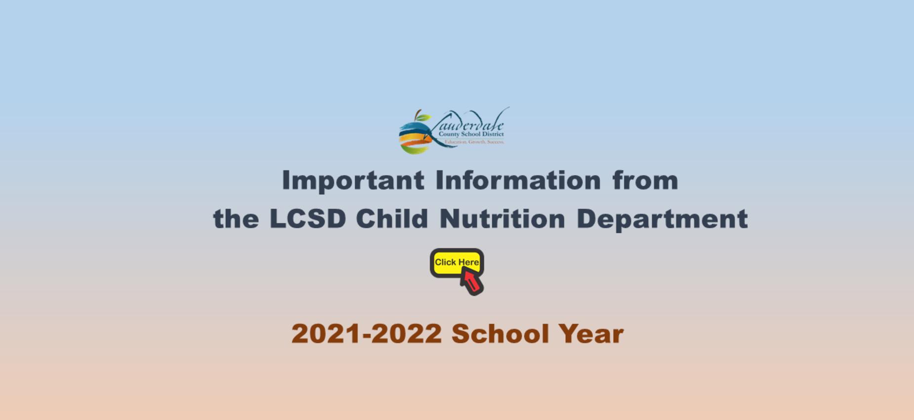 Child Nutrition Information Graphic