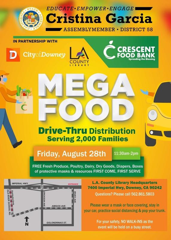 Mega Food and Resource Drive-Thru Distribution-Downey Featured Photo