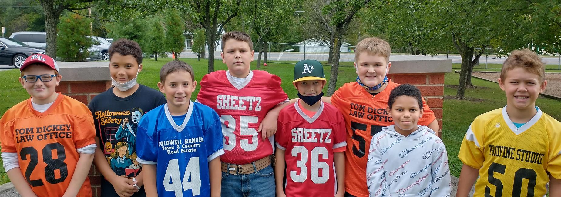 5th Grade Football Players
