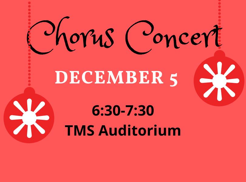 Chorus Concert Dec. 5