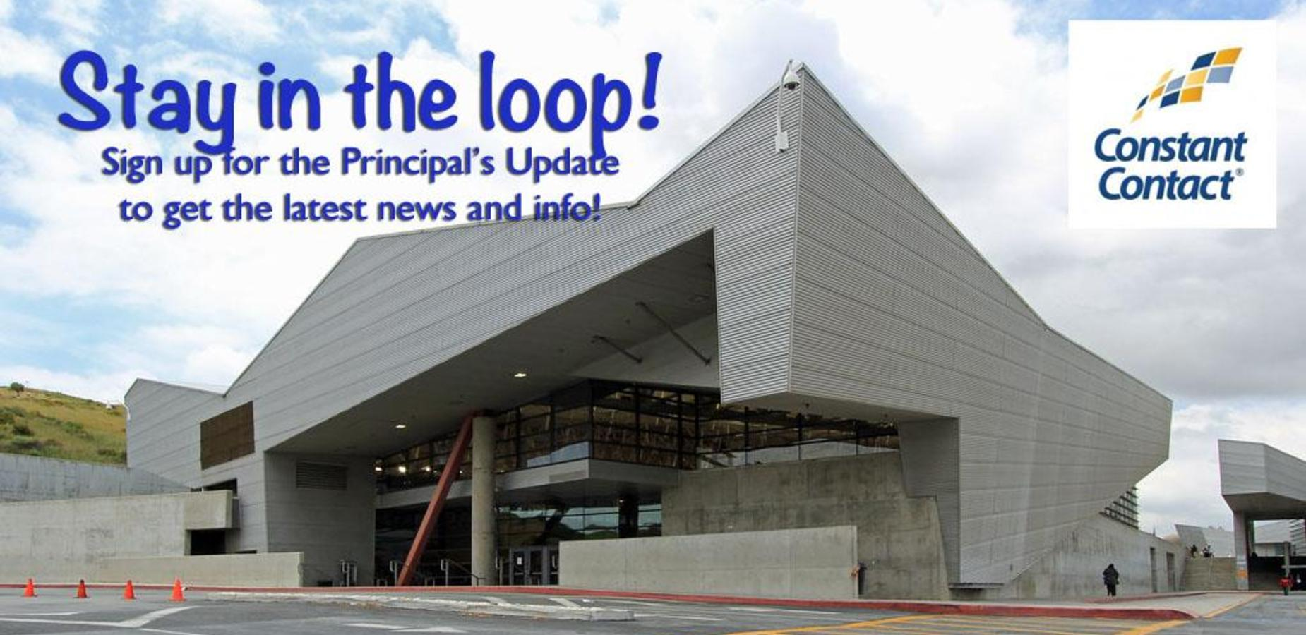 Sign up for Principal's Update