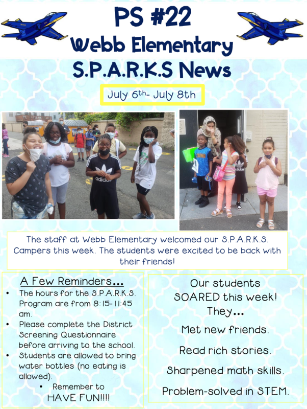 Look At All the Wonderful Things Our Students are Doing During the Summer S.P.A.R.K.S Program Featured Photo