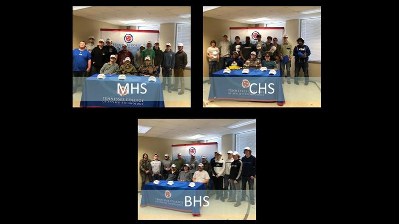 Congratulations to seniors from BHS, CHS, and MHS who participated in TCAT's National Signing Day February 20th. These students will continue their education following graduation at TCAT Covington. Featured Photo