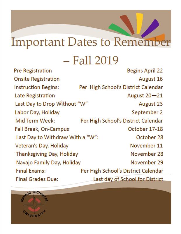 NTU Important Dates Featured Photo
