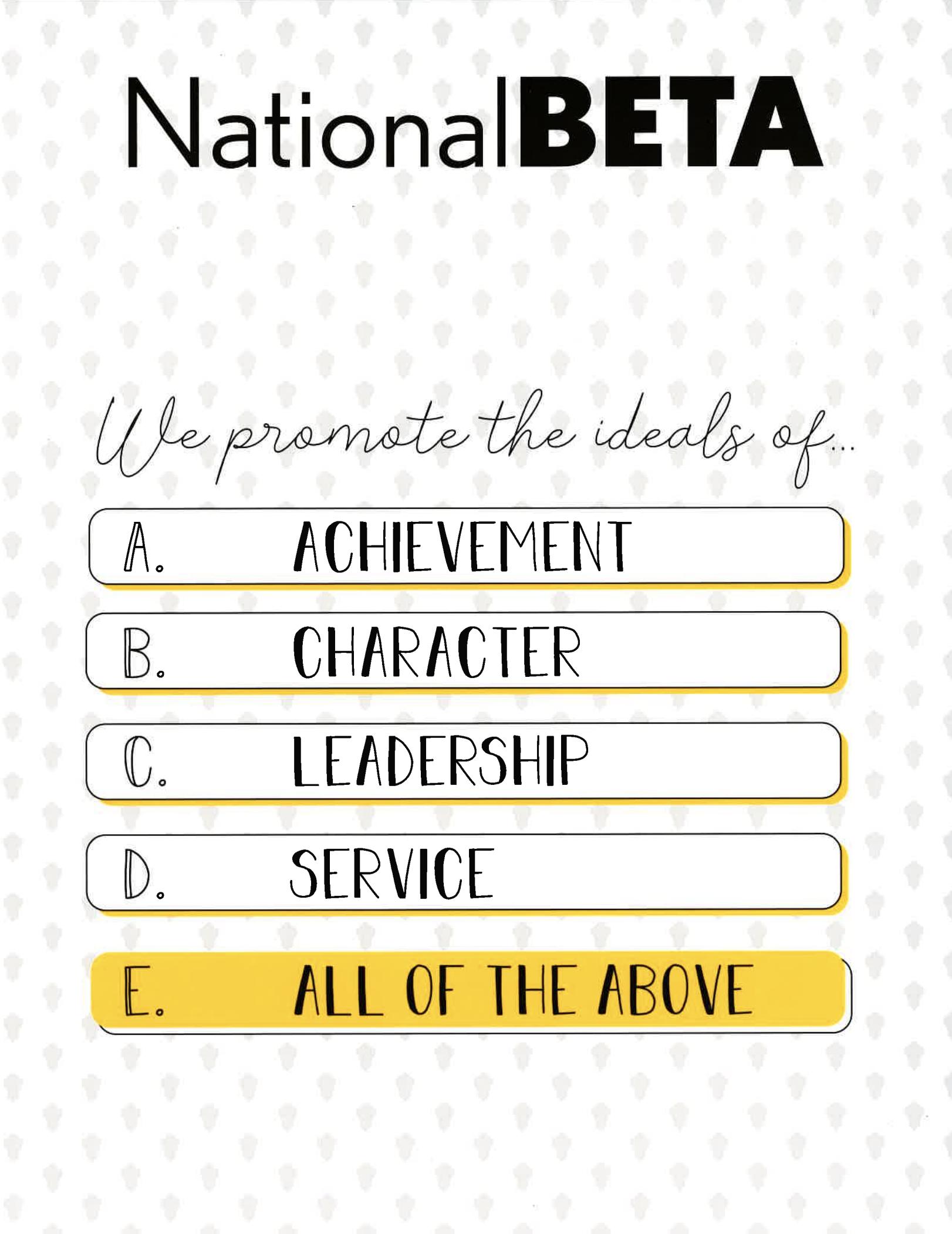 beta club ideals