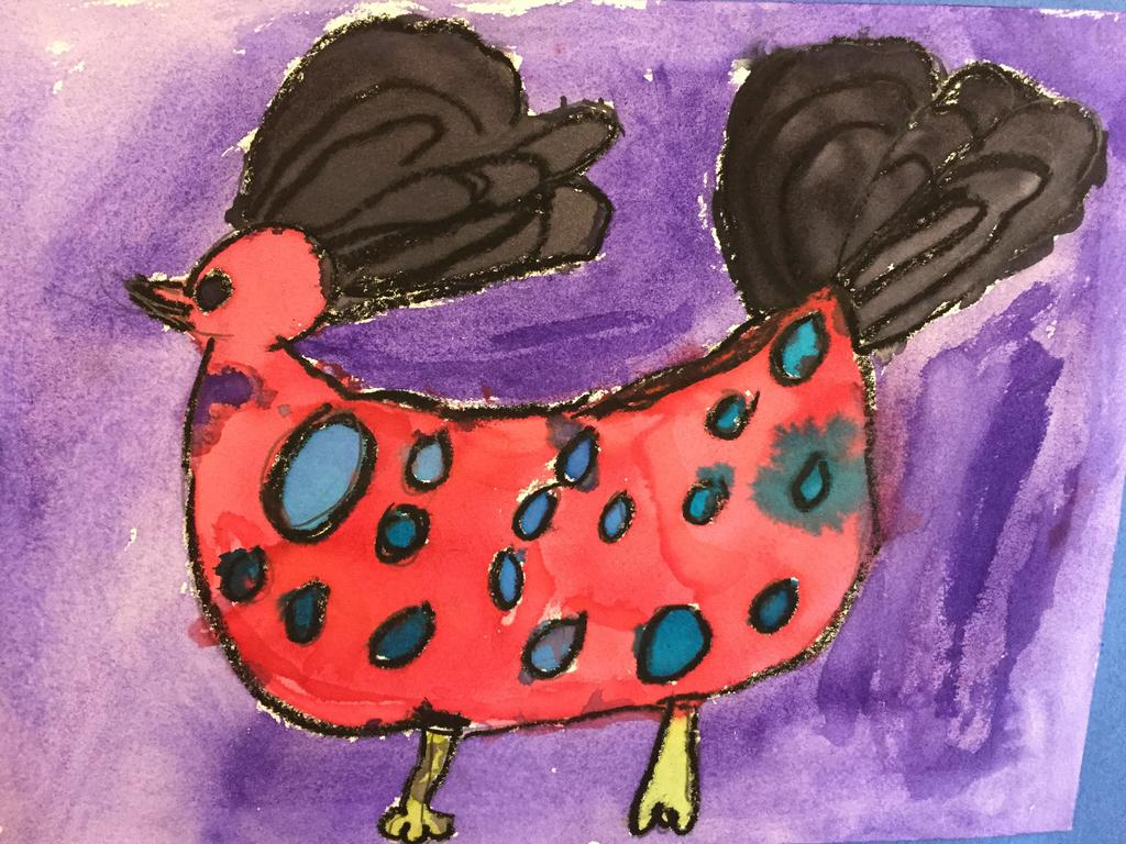 water color chicken