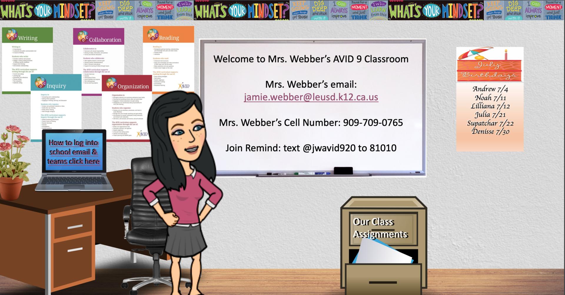Mrs. Webber's Virtual Classroom