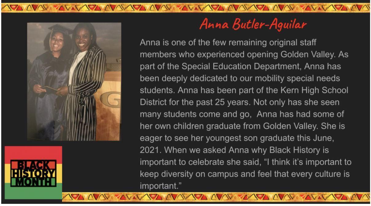 Black History Month KHSD Spotlight: Anna Butler Aguilar