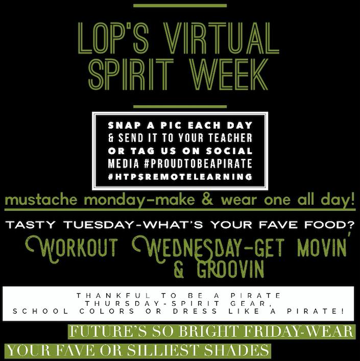 Virtual Spirit Week!