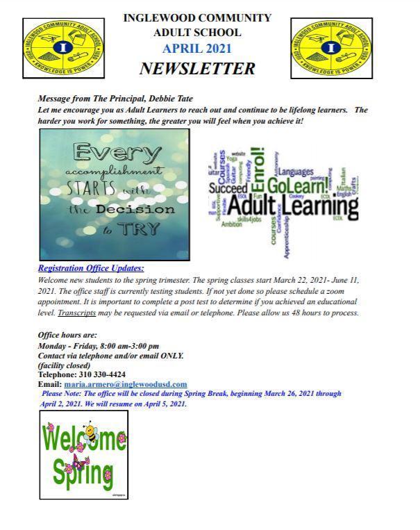 ICAS April 2020 Newsletter