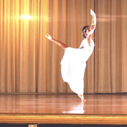 Student Performing in arts