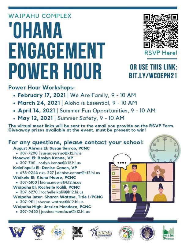 Ohana Engagement flyer, go to bit.ly/WCOEPH21 to register