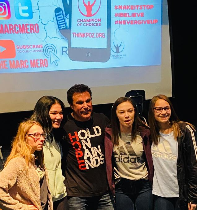 Marc Mero with students