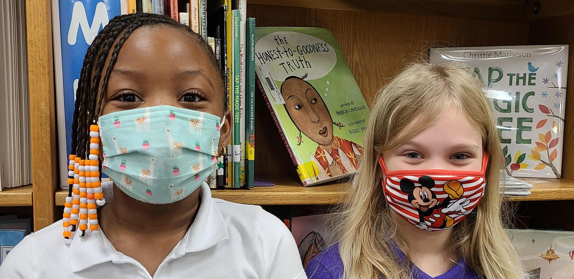 2nd graders in the library