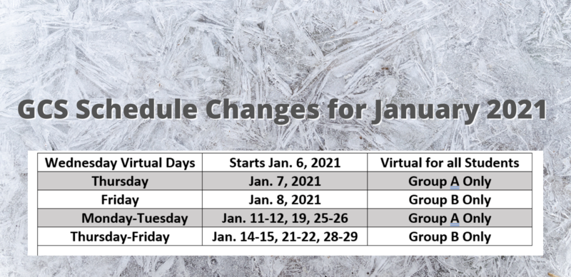 GCS January 2021 Schedule