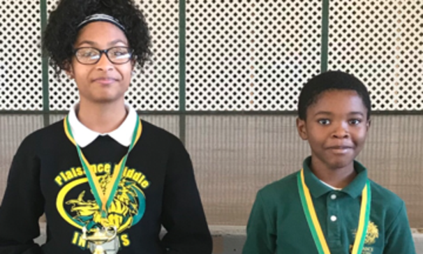 Dr. Monica Fabre along with the students, faculty and staff would like to congratulate Plaisance's 2018-2019 Students of the Year: Middle School Student of the Year, 8th Grade Scholar Alalah Duckless and Elementary Student of the Year, 5th Grade Scholar Roderick Johnson.