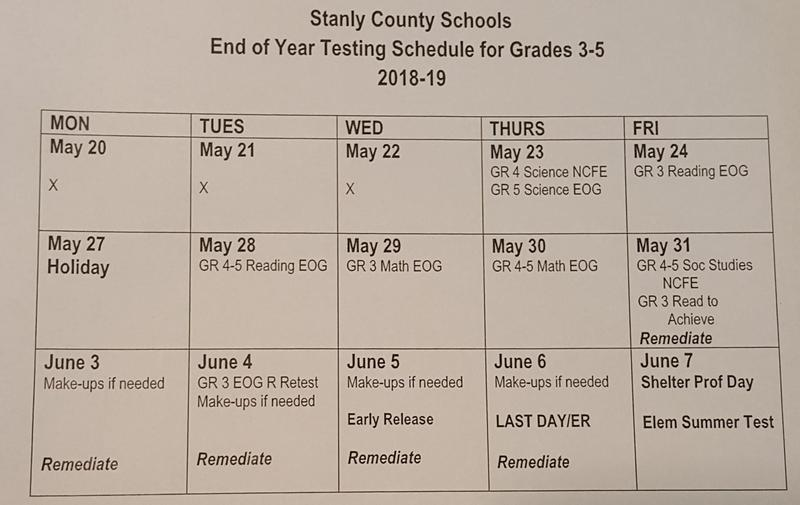 EOG Testing Schedule Featured Photo