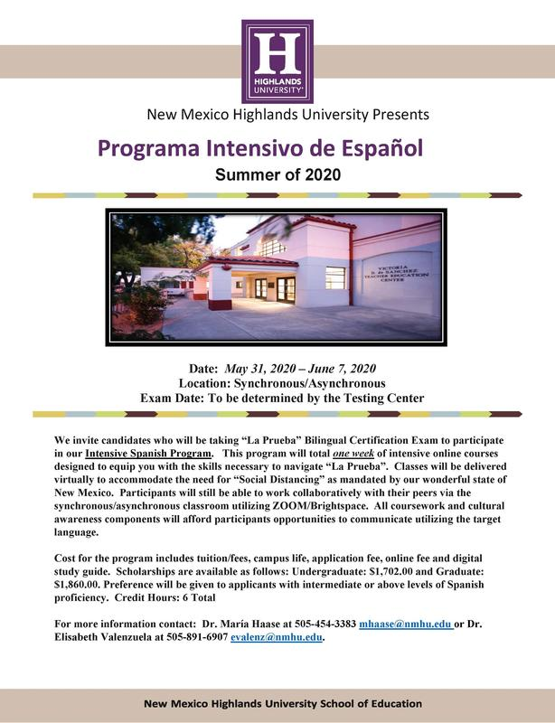 NMHU Programa Intensivo de Español
