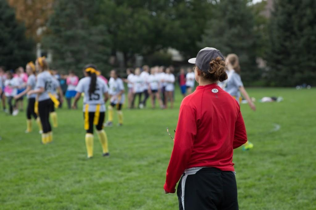 High Schoolers have a blast at the Powderpuff game.