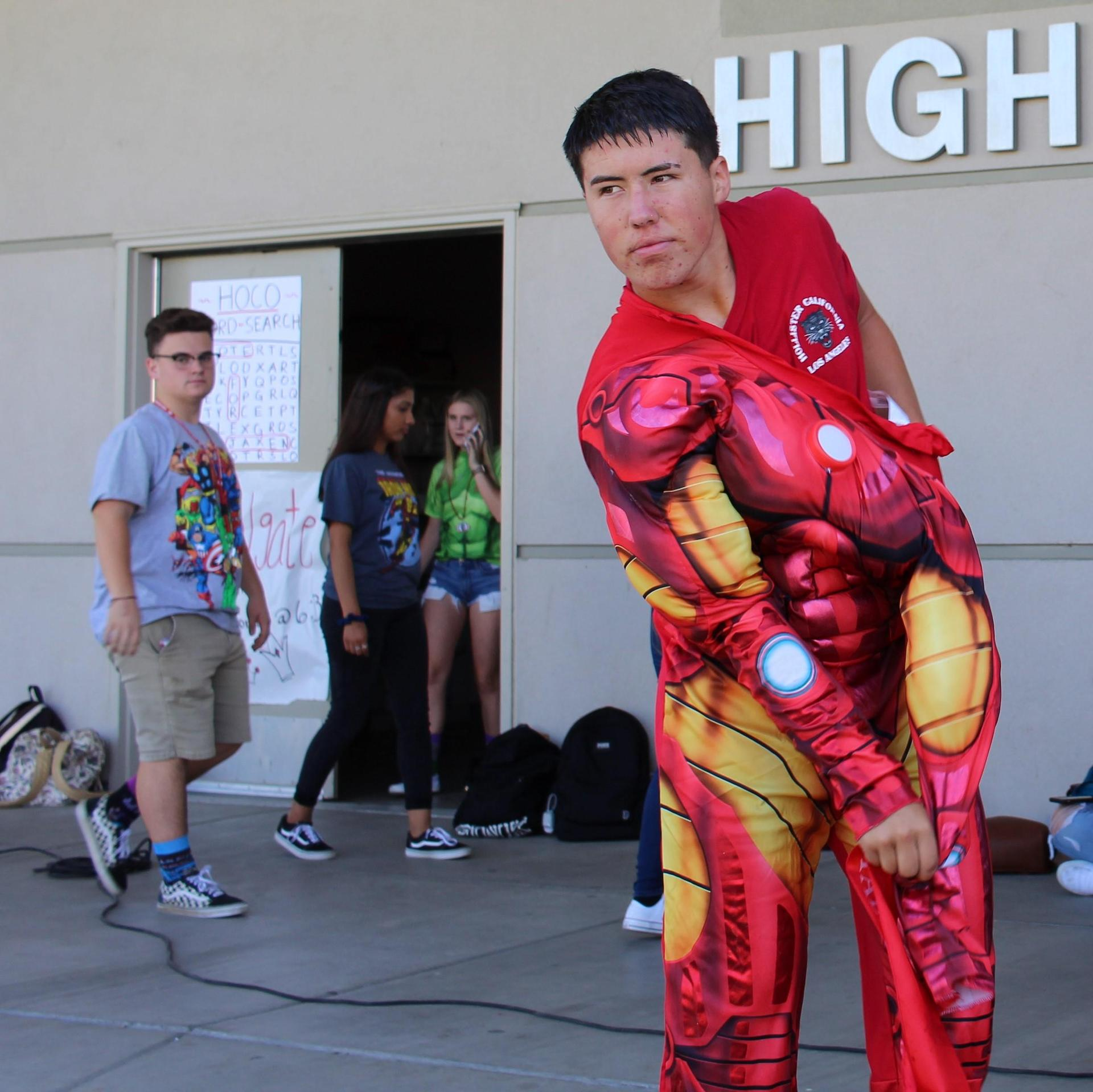 Students Dressed up for Marvel Monday
